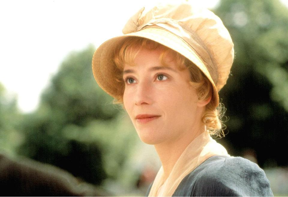 Emma Thompson as Elinor Dashwood in 'Sense And Sensibility' (1995) Real age at the time: 36 - Character age: 19