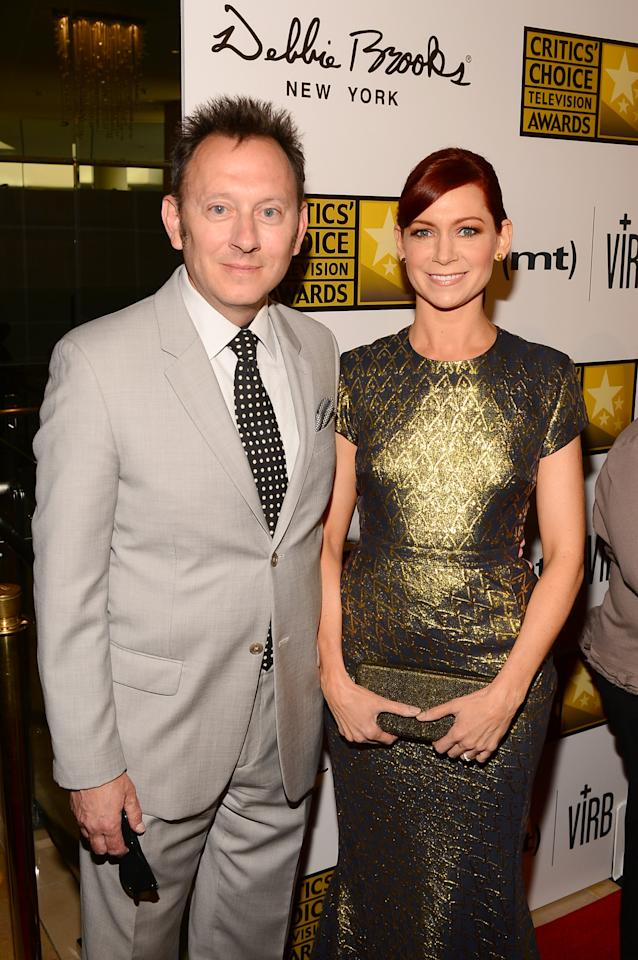LOS ANGELES, CA - JUNE 10: (L-R) Actors Michael Emerson and Carrie Preston arrive at Broadcast Television Journalists Association's third annual Critics' Choice Television Awards at The Beverly Hilton Hotel on June 10, 2013 in Los Angeles, California. (Photo by Mark Davis/Getty Images for CCTA)