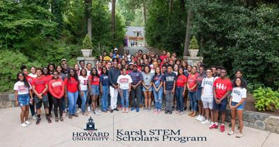Howard University proudly announces a generous $10 million gift from the Karsh Family Foundation to endow its prestigious and highly competitive Bison STEM Scholars Program, which will be renamed the Karsh STEM Scholars Program (KSSP).