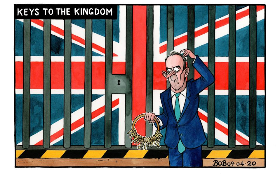 Dominic Raab is deputising for the PM - but unlikely to make big decisions - Bob