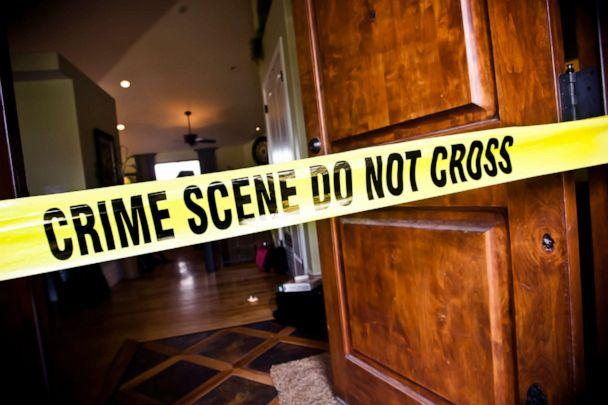 PHOTO: In this undated file photo, crime Scene tape at the front door of a luxury home. (Adam Kaz/Getty Images, FILE)