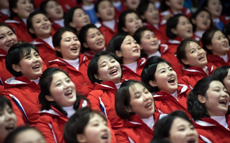 North Korean cheerleaders during the Winter Olympics - Getty Images AsiaPac