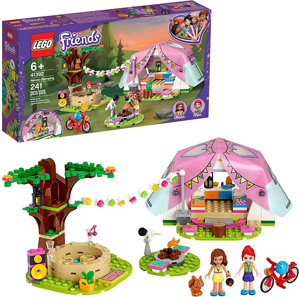 <p><span>Lego Friends Nature Glamping</span> ($30) has 241 pieces and is best suited to kids ages 6 and up.</p>
