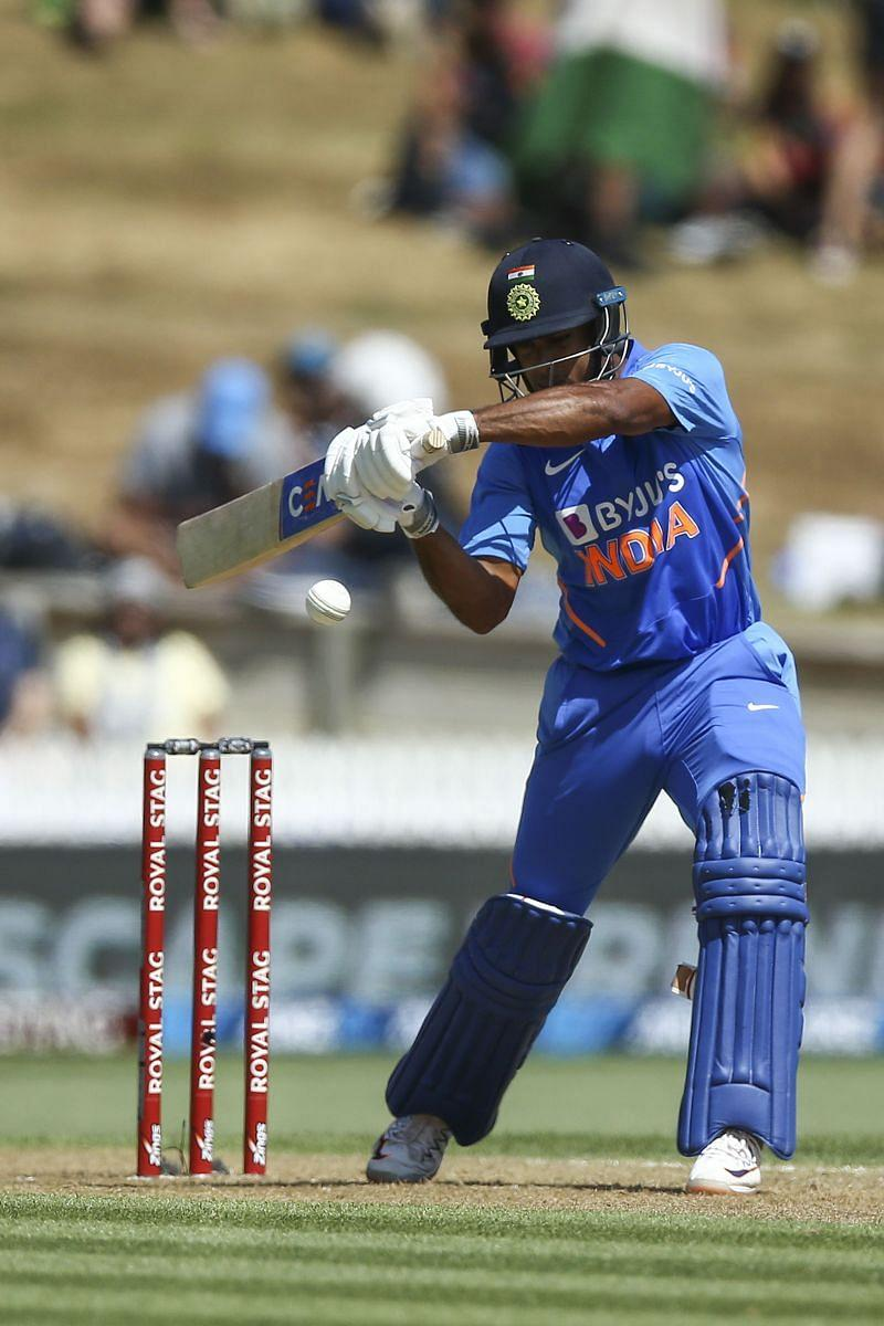 Mayank Agarwal in action for the Indian team