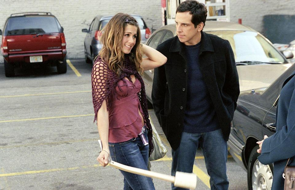 "<p>This Aniston/Ben Stiller collaboration features Jen as a free spirit who shakes Ben out of his play-it-safe mentality. It's also worth revisiting for the late great Philip Seymour Hoffman as Stiller's friend.</p><p><a class=""link rapid-noclick-resp"" href=""https://www.amazon.com/Along-Came-Polly-Ben-Stiller/dp/B001OBRNO0/ref=sr_1_2?tag=syn-yahoo-20&ascsubtag=%5Bartid%7C10063.g.36311626%5Bsrc%7Cyahoo-us"" rel=""nofollow noopener"" target=""_blank"" data-ylk=""slk:WATCH NOW"">WATCH NOW</a></p>"