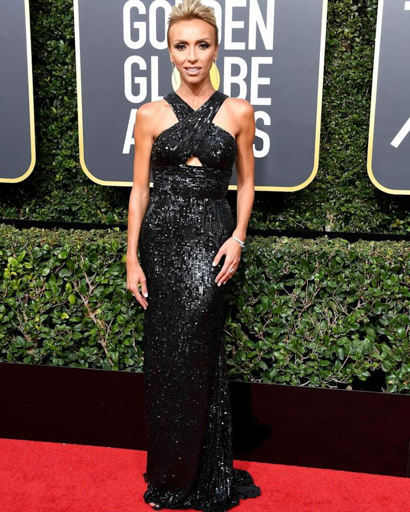 The Will and Grace star was being interview by E! host Giuliana Rancic on the Golden Globes red carpet. Source: Getty