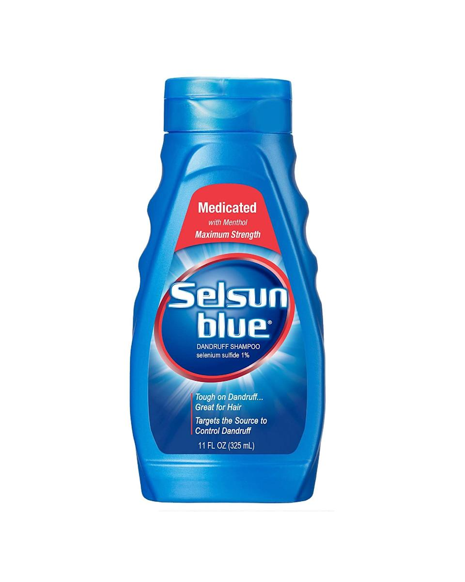 "<p><strong>Selsun Blue</strong></p><p>walmart.com</p><p><strong>$6.98</strong></p><p><a href=""https://go.redirectingat.com?id=74968X1596630&url=https%3A%2F%2Fwww.walmart.com%2Fip%2F10307723&sref=https%3A%2F%2Fwww.marieclaire.com%2Fbeauty%2Fhair%2Fg34954368%2Fbest-dandruff-shampoo%2F"" rel=""nofollow noopener"" target=""_blank"" data-ylk=""slk:SHOP IT"" class=""link rapid-noclick-resp"">SHOP IT</a></p><p>A classic is a classic for a reason. The one percent selenium in this old school queen minimizes flaking and itching, leaving behind only a satisfying menthol scent. Use just once or twice a week to control ultra-annoying cases.<br></p>"
