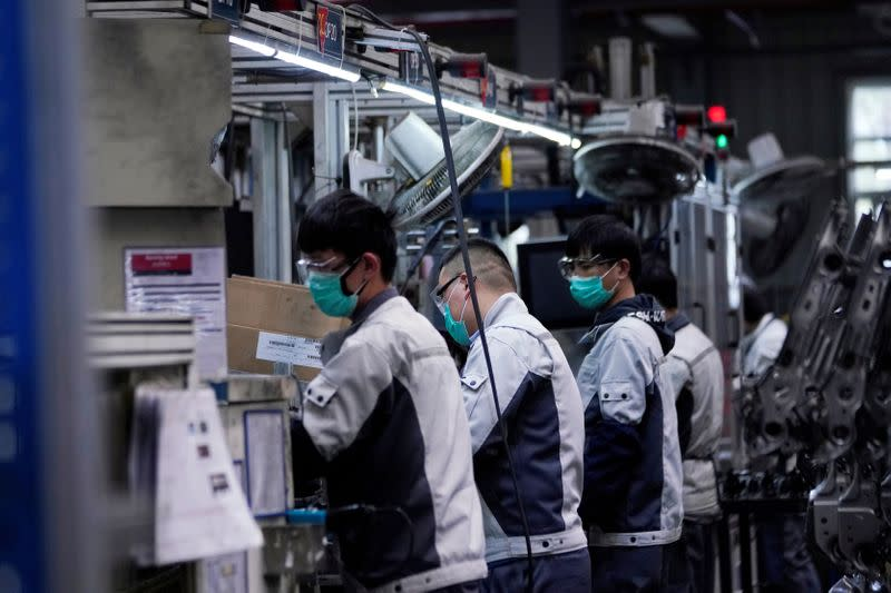 China's industrial firms post steepest fall in profits in a decade
