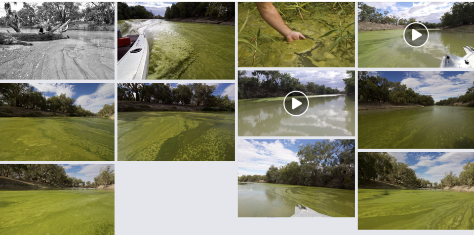 Pictures of the green river system.