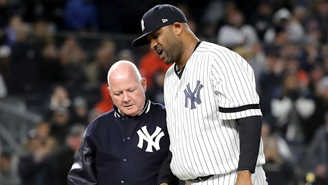 The New York Yankees have removed injured pitcher CC Sabathia from their ALCS roster, bringing his MLB career to an end.