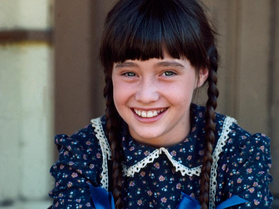 "Shannen Doherty as Jenny Wilder from ""Little House on the Prairie."""