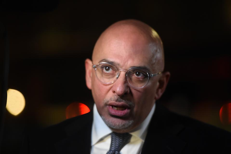 Conservative MP Nadim Zahawi talks to the media in Westminster, London, as Tory MPs hold a vote of confidence in Prime Minister Theresa May.