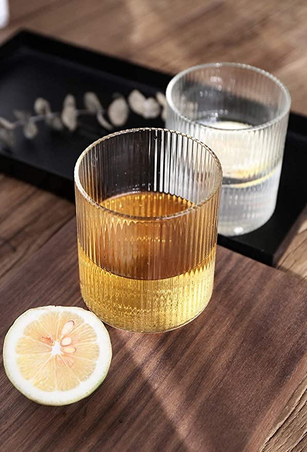 """<h3>Ripple Water Whisky Glasses </h3><br>Step up your H20 or cocktail game with these streamlined ripple-textured drinking glasses. <br><br><strong>LOOPIG</strong> Ripple Glasses, $, available at <a href=""""https://amzn.to/3dPDYO3"""" rel=""""nofollow noopener"""" target=""""_blank"""" data-ylk=""""slk:Amazon"""" class=""""link rapid-noclick-resp"""">Amazon</a>"""