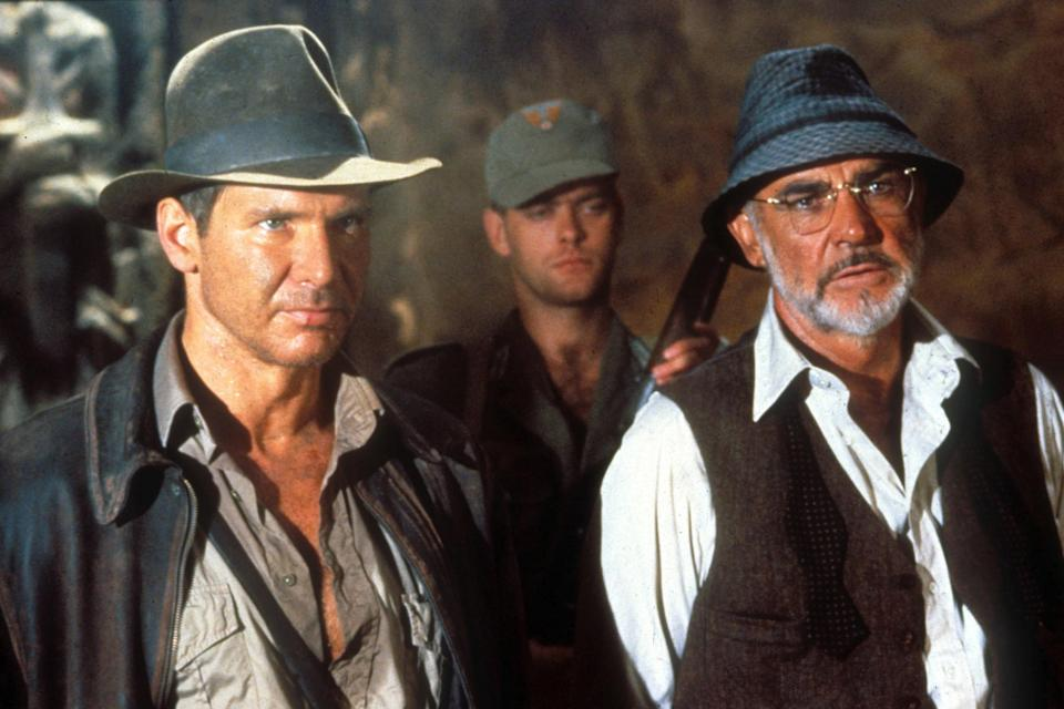 <p>With Harrison Ford in 'Indiana Jones and the Last Crusade'</p>Rex