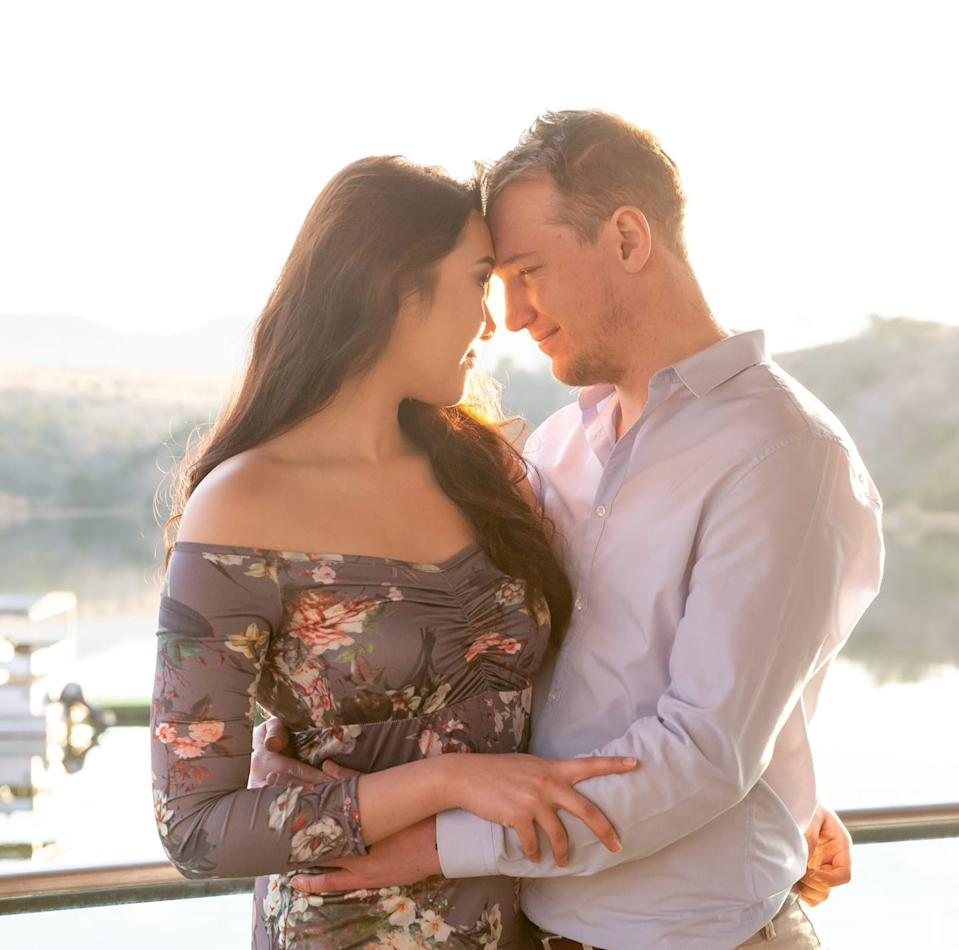 Pictured is Coco Siew and Ewald du Plessis, the two were meant to get married later this year, before Ms Siew died following the liposuction procedure