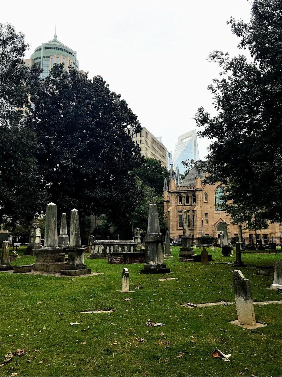 """<p>From historic homes, to haunted graveyards, to old medical institutions, this 90-minute evening stroll through Charlotte's Fourth Ward is sure to leave you with nightmares. </p><p><a class=""""link rapid-noclick-resp"""" href=""""https://go.redirectingat.com?id=74968X1596630&url=https%3A%2F%2Fwww.tripadvisor.com%2FAttractionProductReview-g49022-d11474988-Charlotte_Beyond_the_Grave_Haunted_History_Walking_Ghost_Tour-Charlotte_North_Carol.html&sref=https%3A%2F%2Fwww.redbookmag.com%2Flife%2Fg37623207%2Fghost-tours-near-me%2F"""" rel=""""nofollow noopener"""" target=""""_blank"""" data-ylk=""""slk:LEARN MORE"""">LEARN MORE</a></p>"""
