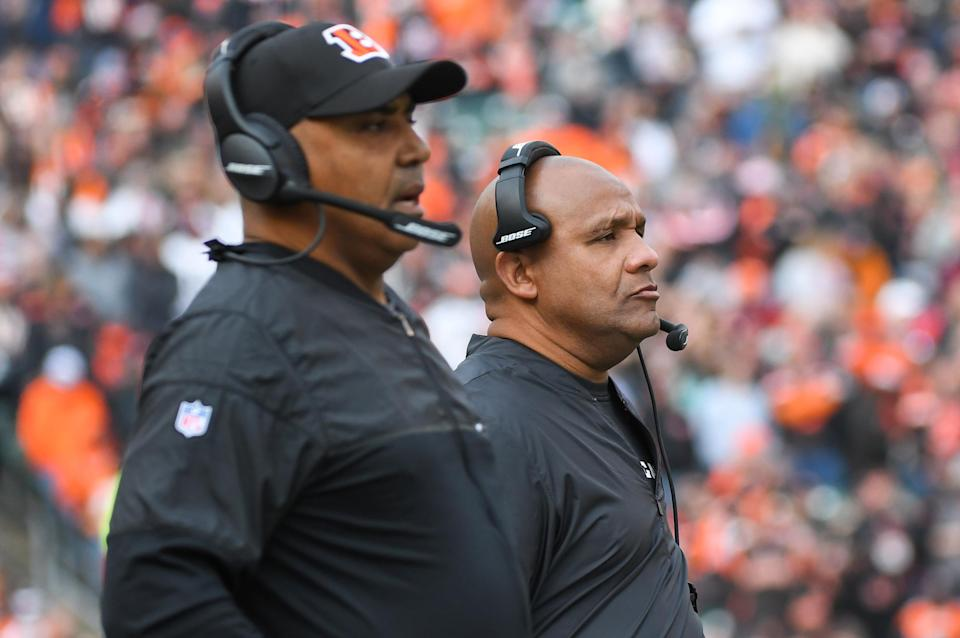 Hue Jackson and Marvin Lewis have enjoyed a close relationship during their coaching careers. (Getty Images)