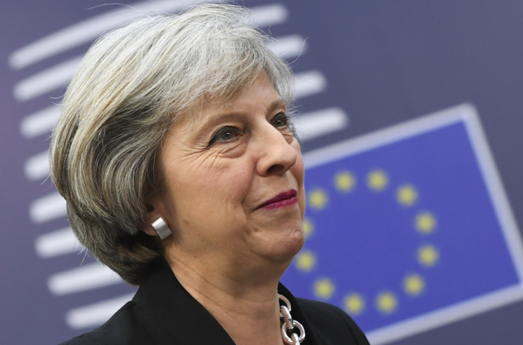 Theresa May has resisted calls to guarantee the rights of EU nationals (Rex)