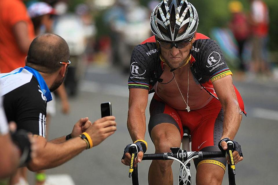 Lance Armstrong on July 20, 2010 in Bagneres-de-Luchon, France.