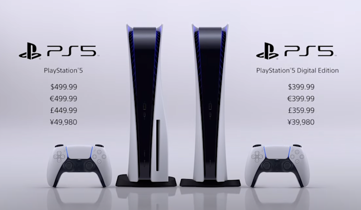 PS5 price details