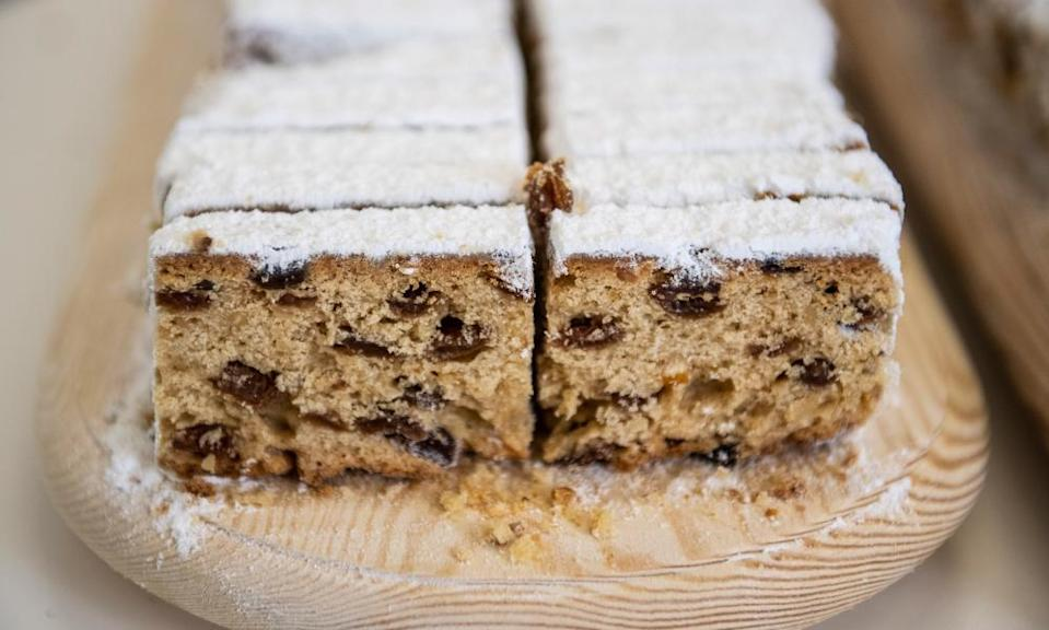 Stollen is becoming much more popular in the UK.