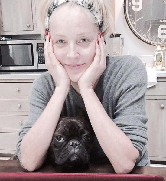 """<p><strong>When: Jan. 6, 2016 </strong><br> """"Doing my emails with Joe on this rainy day. #SharonStone."""" Whatever she's doing, it's working. Sharon looks effortlessly stunning in this makeup-free Instagram pic. (Photo: Instagram) </p>"""