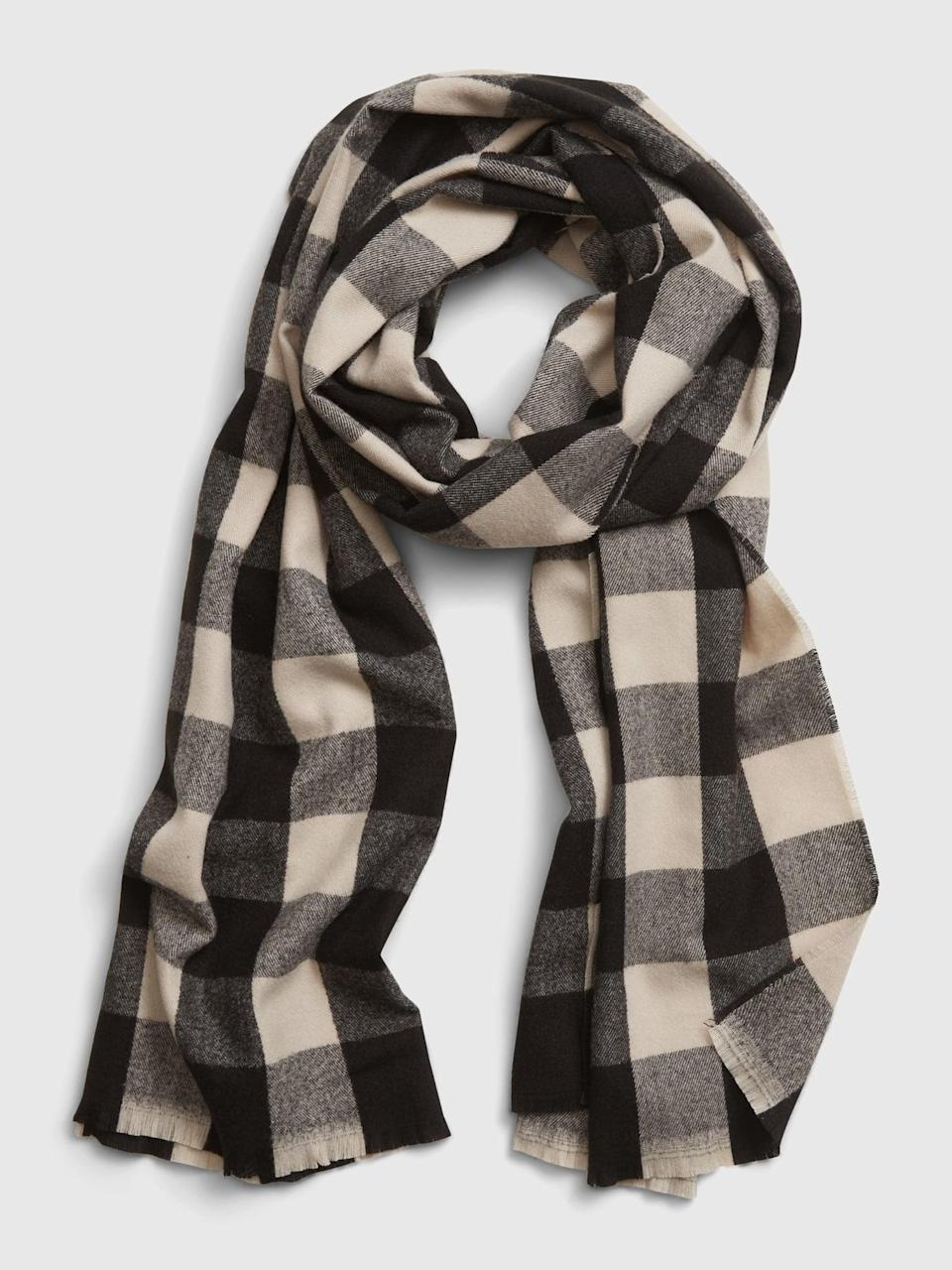 <p>This <span>Gap Recycled Cozy Scarf</span> ($20) is the perfect stocking stuffer.</p>