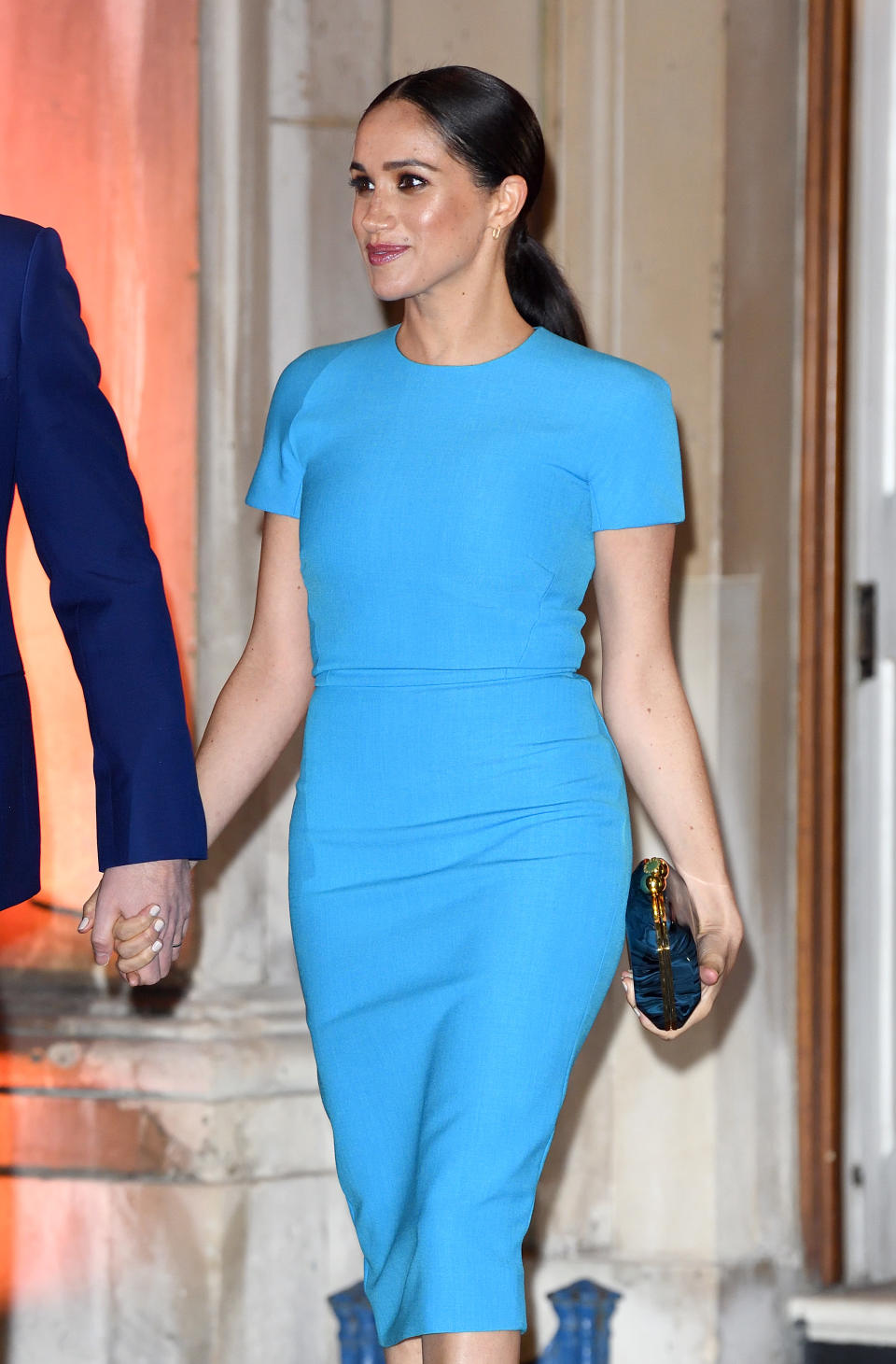 LONDON, ENGLAND - MARCH 05: Meghan, Duchess of Sussex accompanied by Prince Harry, Duke of Sussex attends The Endeavour Fund Awards at Mansion House on March 05, 2020 in London, England. (Photo by Karwai Tang/WireImage)