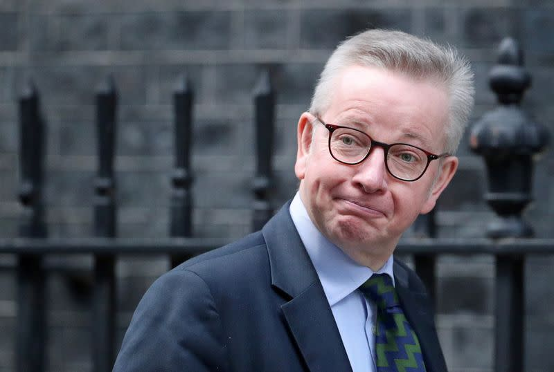 Britain's Chancellor of the Duchy of Lancaster Michael Gove arrives at the weekly cabinet meeting