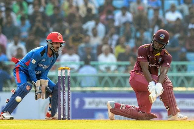West Indies' Shai Hope in the second one day international win over Afghanistan (AFP Photo/Rohit UMRAO)