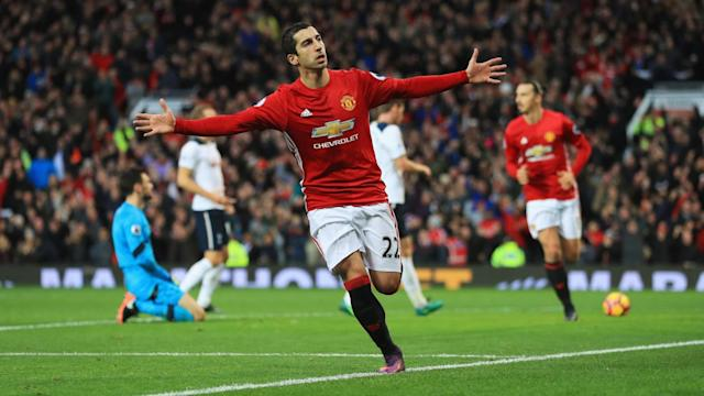 Manchester United midfielder Henrikh Mkhitaryan fit for West Brom clash after 'minor injury'