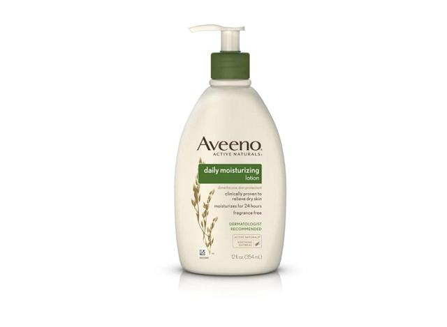 "<p>$7, <a href=""https://www.target.com/p/aveeno-174-daily-moisturizing-lotion-for-dry-skin-12-fl-oz/-/A-13345336"" rel=""nofollow noopener"" target=""_blank"" data-ylk=""slk:target.com"" class=""link rapid-noclick-resp"">target.com</a> </p>"