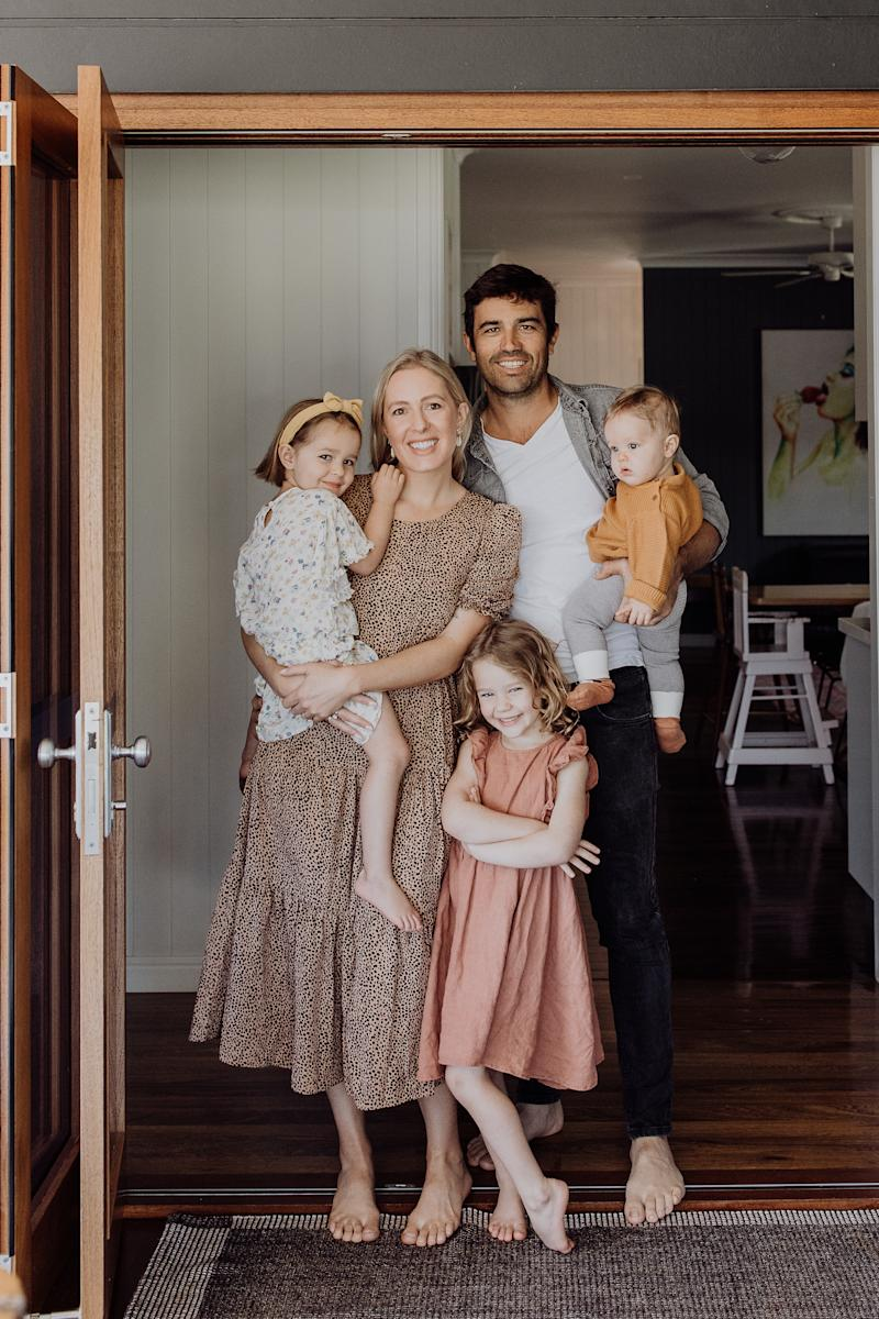 Rob Turner is pictured with his wife, Gabrielle, and their three children. Source: Turner family