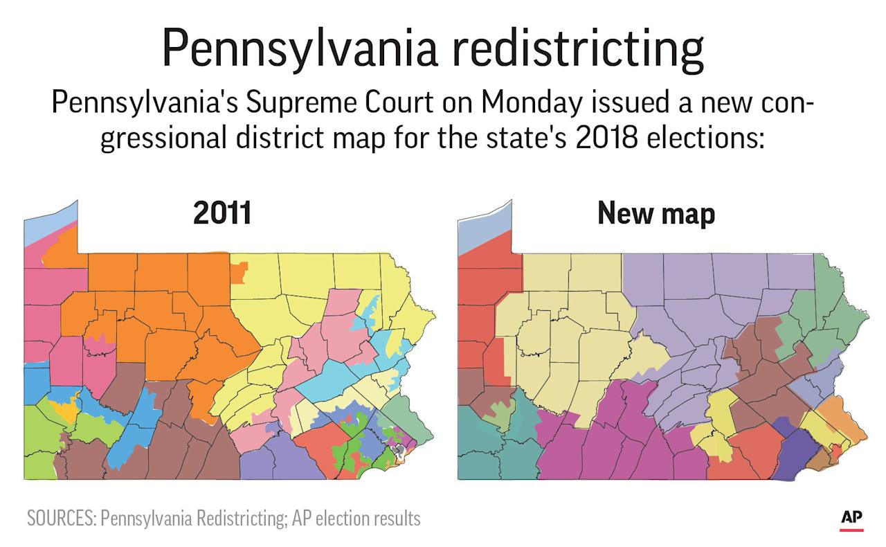 Pa Supreme Court draws a 'much more competitive' district map