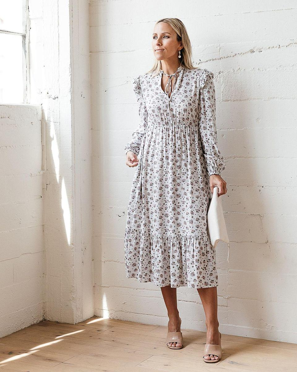 """<p>Breezy and feminine, this tie-neck dress is the sort that you'll end up reaching for all spring and summer.</p><p><em>The Drop Women's Dawn Blue Floral Print Neck-Tie Midi Dress by @jaceyduprie, $69.90</em></p><p><a class=""""link rapid-noclick-resp"""" href=""""https://www.amazon.com/dp/B08YKNW5V1?tag=syn-yahoo-20&ascsubtag=%5Bartid%7C10051.g.36027379%5Bsrc%7Cyahoo-us"""" rel=""""nofollow noopener"""" target=""""_blank"""" data-ylk=""""slk:SHOP NOW"""">SHOP NOW</a><br></p>"""