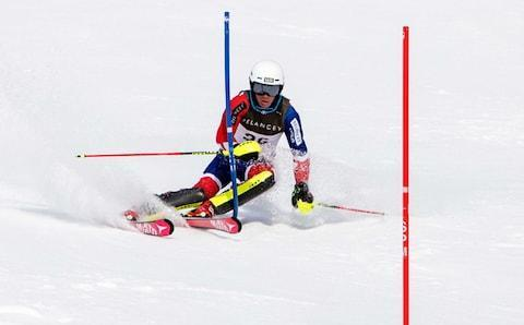 <span>Billy Major in action on the slopes</span> <span>Credit: Vanessa Fry </span>