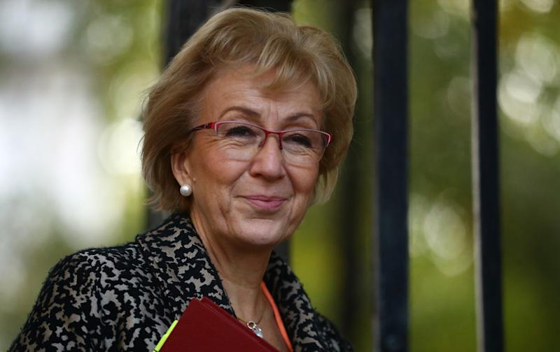 Business Secretary Andrea Leadsom is seen outside Downing Street in London, Britain, October 18, 2019. REUTERS/Hannah McKay