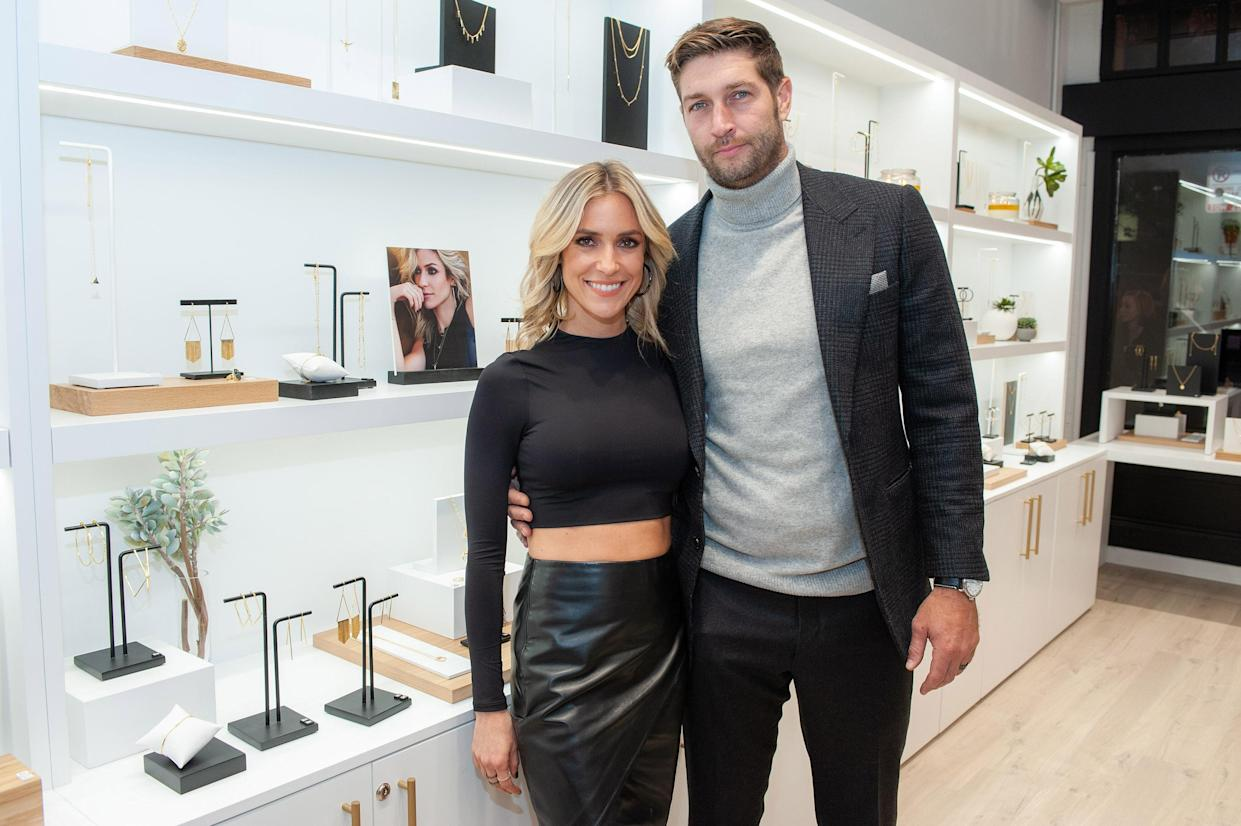 Kristin Cavallari and Jay Cutler attend the Uncommon James opening in Chicago in 2016.