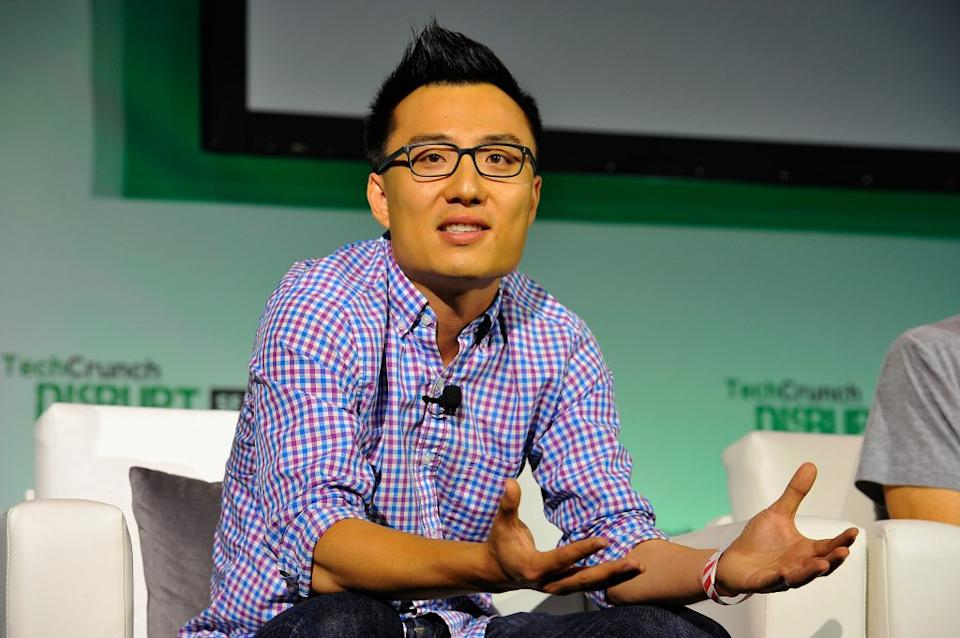 DoorDash Co-Founder and CEO Tony Xu speaks onstage at TechCrunch Disrupt at Pier 48 on September 10, 2014 in San Francisco, California. (Photo by Steve Jennings/Getty Images for TechCrunch)