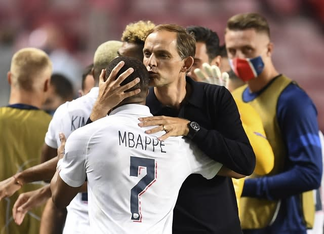 PSG's head coach Thomas Tuchel and Kylian Mbappe are looking to bring Champions League glory to the French giants