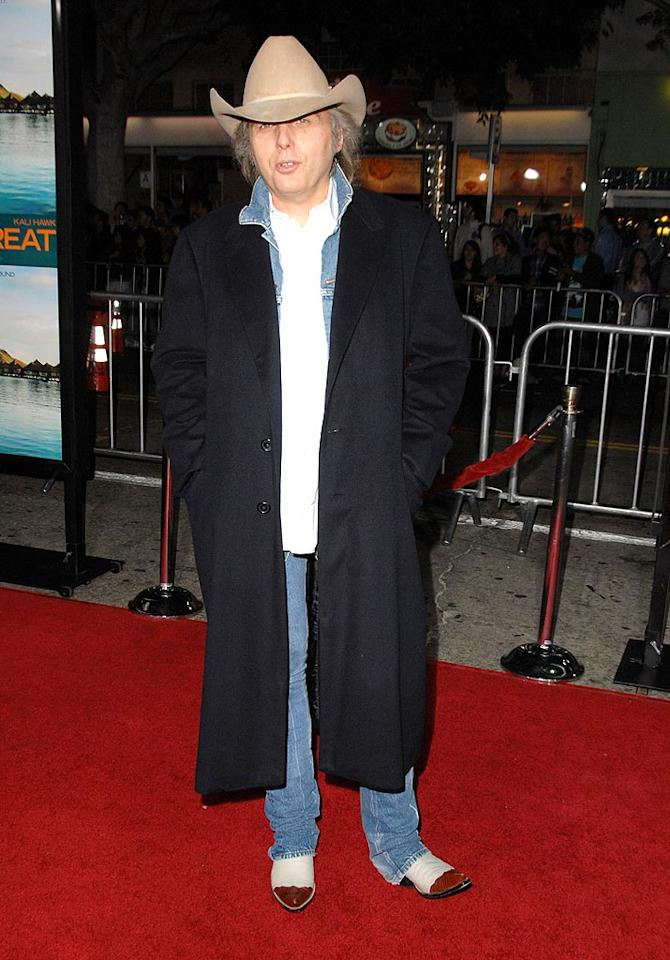 "We weren't expecting Dwight Yoakam to dazzle us, but couldn't he have gotten a little more gussied up for the premiere of ""Couples Retreat""? Steve Granitz/<a href=""http://www.wireimage.com"" target=""new"">WireImage.com</a> - October 5, 2009"