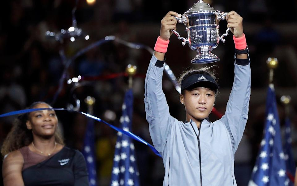 The presentation of Naomi Osaka's first grand slam trophy was overshadowed on Saturday night by a bout of tears from the newly-crowned US Open winner, following her beaten opponent Serena Williams' on-court meltdown.