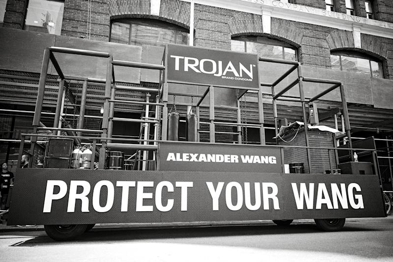"My first look at this year's ""Protect Your Wang"" float."