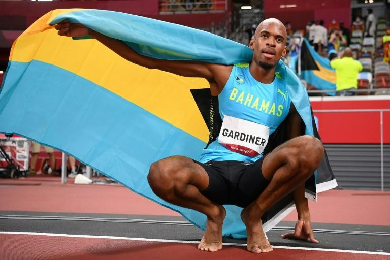 Steven Gardiner struck gold for the Bahamas in the 400 metres, without a US runner among the medallists