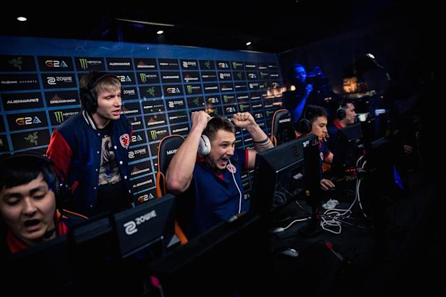 Gambit celebrates (DreamHack Winter Flickr/Helena Kristiansson)