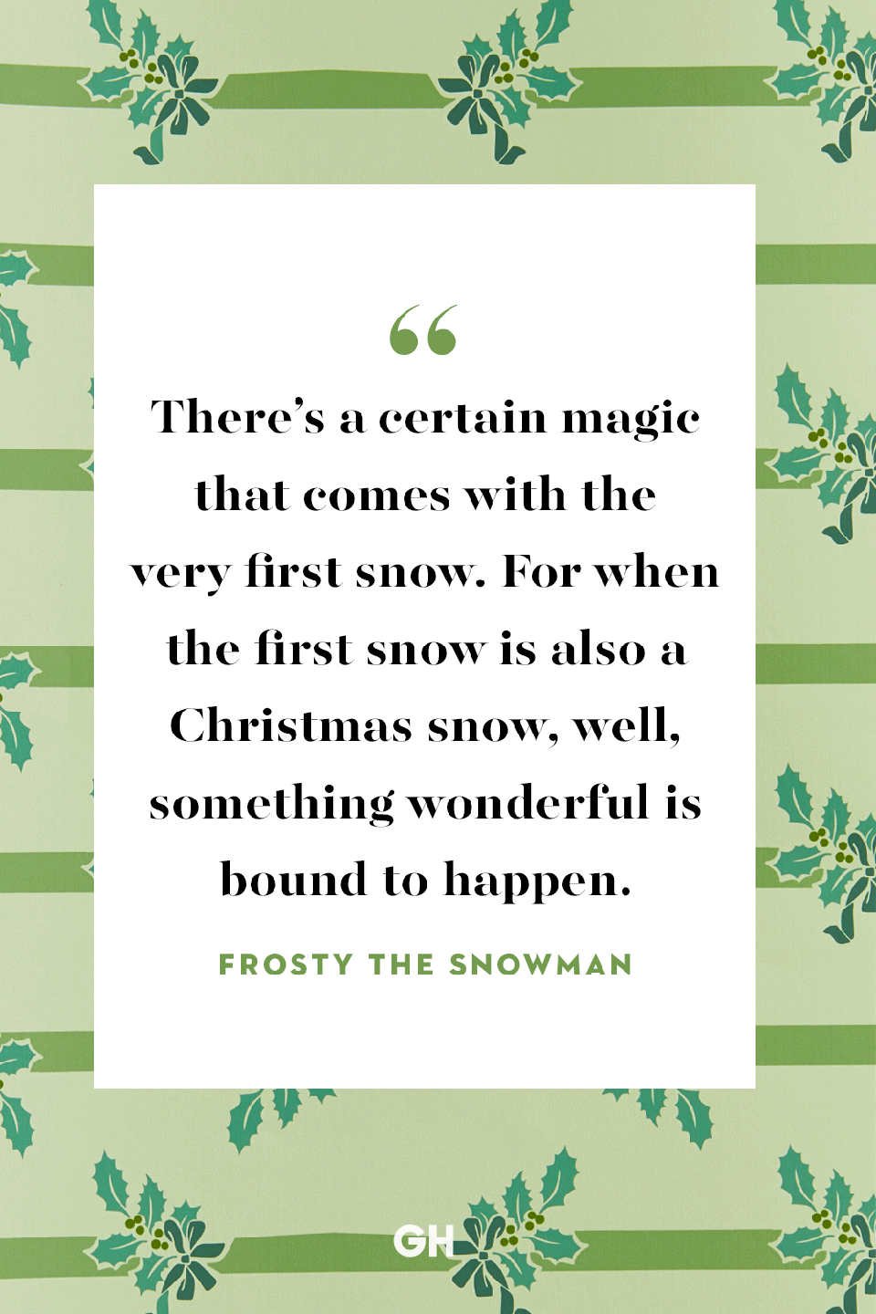 "<p>There's a certain magic that comes with the very first snow. For when the first snow is also a Christmas snow, well, something wonderful is bound to happen.</p><p><strong>RELATED:</strong> <a href=""https://www.goodhousekeeping.com/holidays/christmas-ideas/g2680/christmas-songs/"" rel=""nofollow noopener"" target=""_blank"" data-ylk=""slk:51 Festive Christmas Songs to Get You in the Holiday Spirit"" class=""link rapid-noclick-resp"">51 Festive Christmas Songs to Get You in the Holiday Spirit</a></p>"