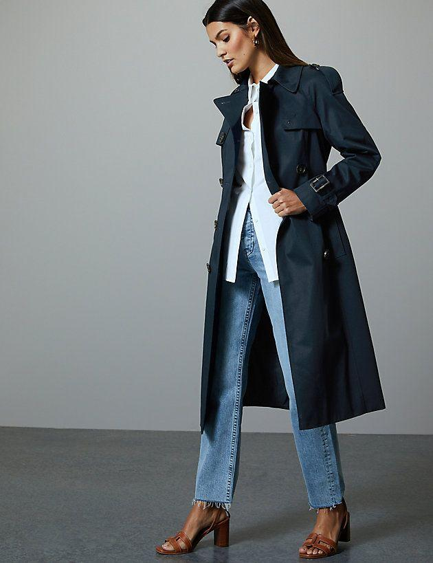 """<p>Pure cotton double breasted trench coat, £89 </p><p><a class=""""body-btn-link"""" href=""""https://go.redirectingat.com?id=127X1599956&url=https%3A%2F%2Fwww.marksandspencer.com%2Fpure-cotton-double-breasted-trench-coat%2Fp%2Fp60220445%3Fcolor%3DDARKNAVY&sref=http%3A%2F%2Fwww.cosmopolitan.com%2Fuk%2Ffashion%2Fstyle%2Fg22863371%2Fmarks-and-spencer-coats%2F"""" target=""""_blank"""">BUY NOW</a></p><p>The ultimate classic, M&S know how to do a trench right. This look is giving off major Parisian Chic vibes. *Quickly books Eurostar*</p>"""