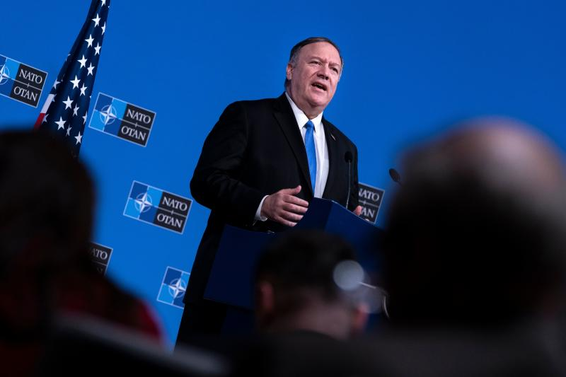 U.S. Secretary of State Mike Pompeo speaks during a press conference at a Foreign ministers meeting at the NATO headquarters in Brussels on November 20, 2019. (Photo: Kenzo Tribouillard/AFP via Getty Images)