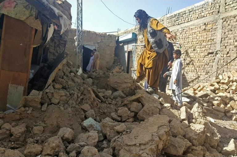 At least 20 people, including six children, were killed in Thursday's quake (AFP/Banaras KHAN)