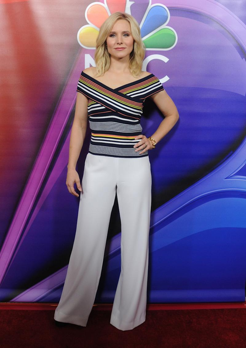 Kristen Bell arrives at the 2016 Summer TCA Tour - NBCUniversal Press Tour Day 1 at The Beverly Hilton Hotel on Aug. 2, 2016, in Beverly Hills, California.